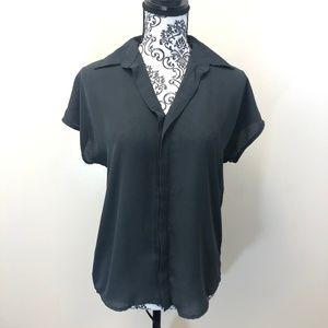 Mossimo Oversized Collared Blouse XS